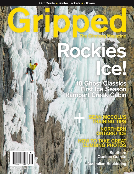 Cover of Gripped Climbing Magazine - Tim Banfield December 2016