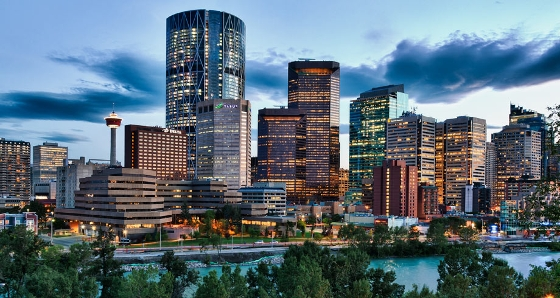 An Image of downtown Calgary